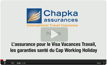 Video CAP Working Holiday by Chapka pour Boomerang Australia Studies